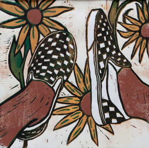 THIRD PLACE: Sunflower Shoes, Brooke VanBilliard, Fleetwood High School